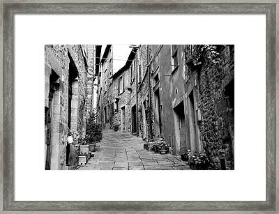 Up This Street Framed Print