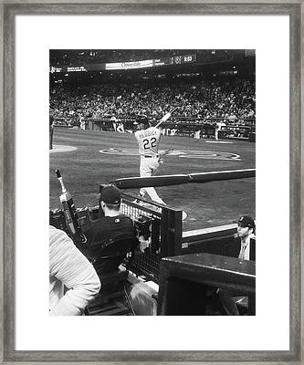 Up To Bat  Framed Print