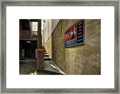 Up To East Main Framed Print