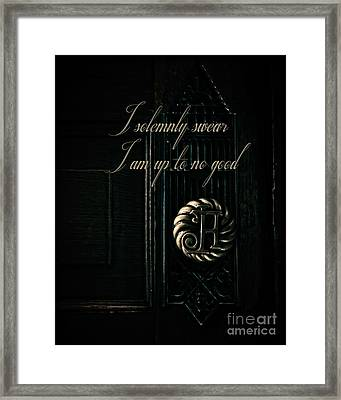 Up To No Good Framed Print by Emily Kay