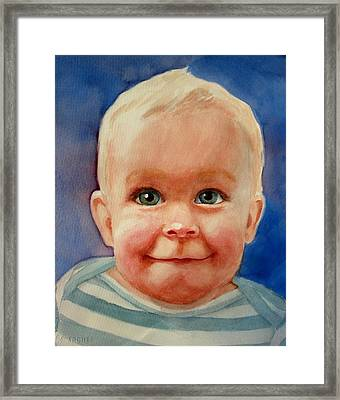 Up To Something Framed Print by Marilyn Jacobson