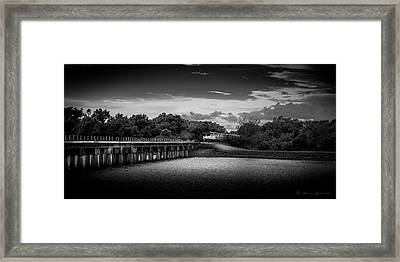 Up To Speed-b/w Framed Print