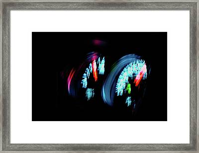 Up To Speed Framed Print