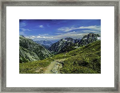 Up To The Edge Framed Print