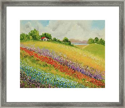 Up To The Hill Framed Print