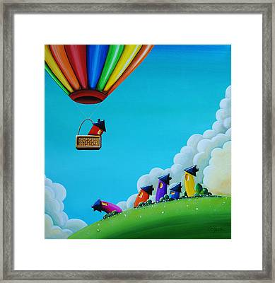 Up Up And Away Framed Print by Cindy Thornton