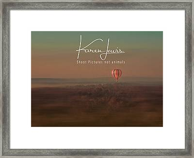 Framed Print featuring the photograph Up Up And Away In My Beautiful Balloon  by Karen Lewis