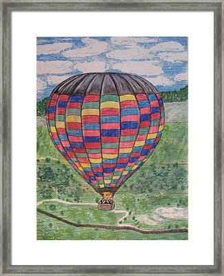 Framed Print featuring the painting Up Up And Away by Kathy Marrs Chandler