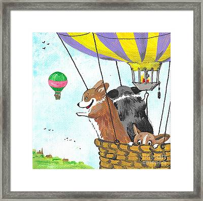 Up Up And Away Framed Print by Margaryta Yermolayeva