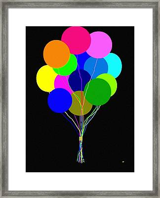 Upbeat Balloons Framed Print by Will Borden