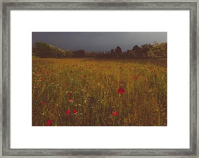 Upcoming Thunderstorm Framed Print by Cesare Bargiggia