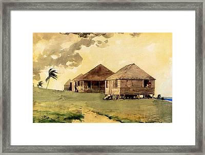 Upcoming Tornado Bahamas Framed Print by Winslow Homer