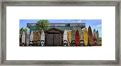 Upcountry Boards Framed Print by DJ Florek