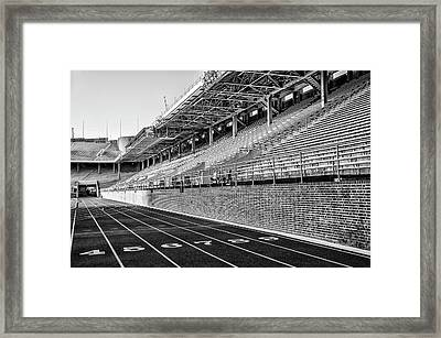 Upenn - Franklin Field In Black And White Framed Print by Bill Cannon