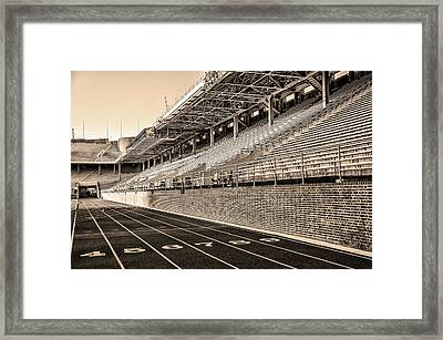 Upenn - Franklin Field In Sepia Framed Print by Bill Cannon