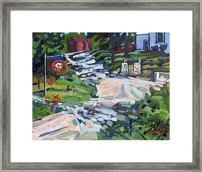 Uphill In Rockport Framed Print