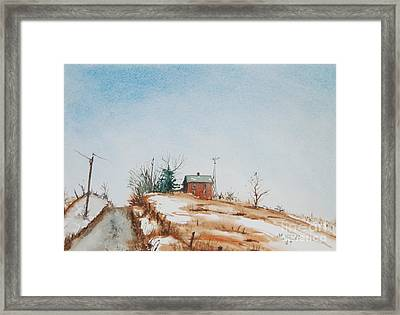 Uphill Framed Print by Mike Yazel