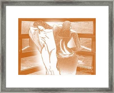 Uphold Each Other Framed Print by Belinda Threeths