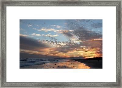 Uplifting Sunset Framed Print by Rosanne Jordan