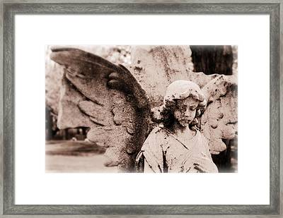 Upon Angel's Wings Framed Print