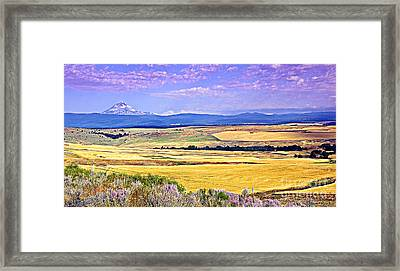 Upon Golden Fields Framed Print