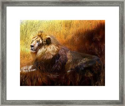 Upon His Wild Throne Framed Print by Carol Cavalaris