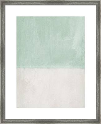 Upon Our Sighs 2- Abstract Art Framed Print by Linda Woods