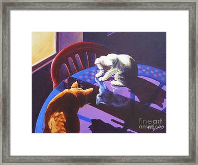 Upon Reflection Framed Print by Pat Burns