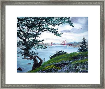 Upon Seeing The Golden Gate Framed Print