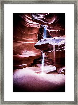 Framed Print featuring the photograph upper antelope Canyon by Norman Hall