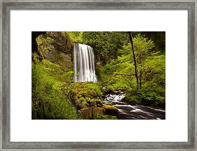 Upper Bridal Veil Falls Framed Print