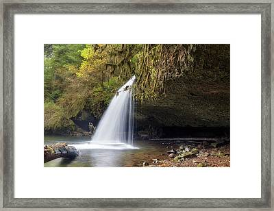 Upper Butte Creek Falls Closeup Framed Print by David Gn