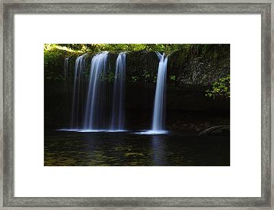 Upper Butte Creek Falls - Front Framed Print by Ken Dietz