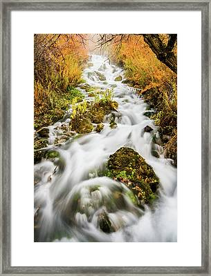 Upper Cascades At Cascade Springs Framed Print