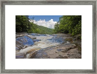Framed Print featuring the photograph Upper Creek Waterfalls by Ken Barrett