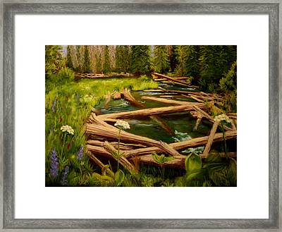 Framed Print featuring the painting Upper Deschutes by Nancy Jolley