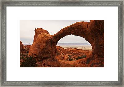Upper Double O Framed Print by Chad Dutson