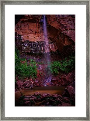 Upper Emerald Pools Fall Zion National Park Framed Print by Scott McGuire