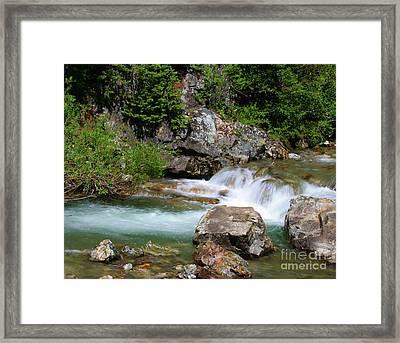 Upper Falls Framed Print by Crystal Garner