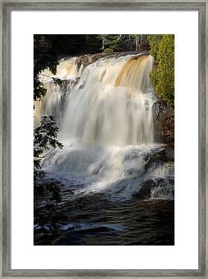 Upper Falls Gooseberry River 2 Framed Print by Larry Ricker