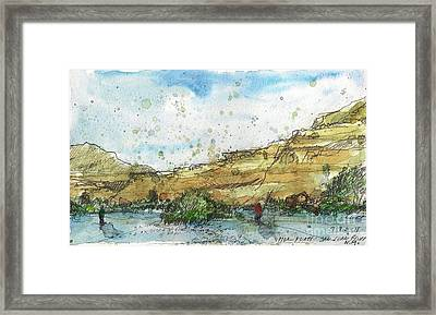 Upper Flats On The San Juan Framed Print by Tim Oliver