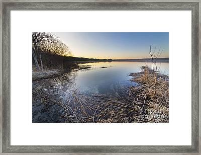Upper Herring Lake Spring Morning Framed Print