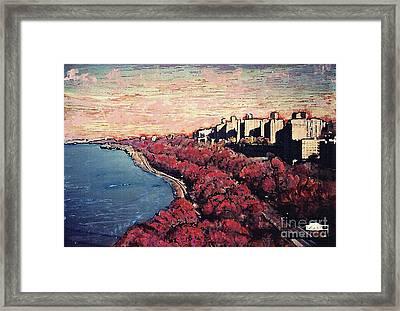 Upper Manhattan Along The Hudson River Framed Print