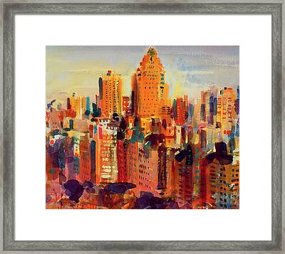Upper Manhattan Framed Print by Peter Graham
