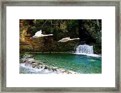 Upper Margaret Falls Framed Print