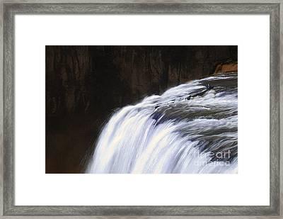 Upper Mesa Falls Framed Print by Dennis Hammer