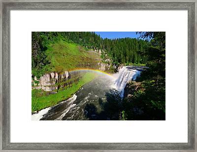 Upper Mesa Falls Framed Print by Greg Norrell