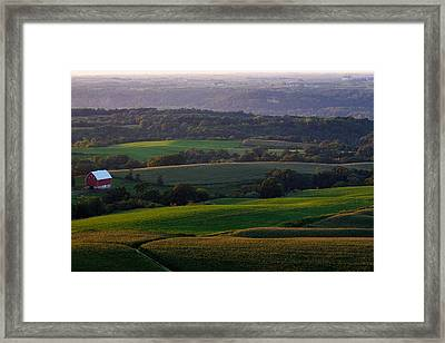 Upper Mississippi River Valley Hills Framed Print