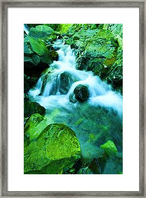 Upper Morse Creek Falls Framed Print