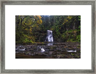 Upper North Falls Framed Print by Mark Kiver